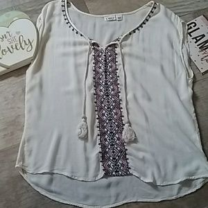 Cato Boho Blouse Women's Size Large